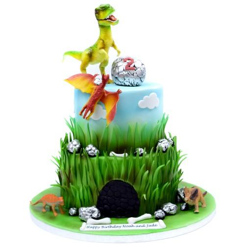 dinosaurs theme cake 3 13
