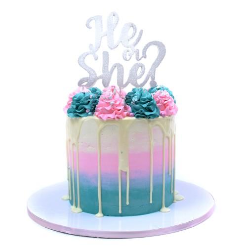 gender reveal cake 4 7
