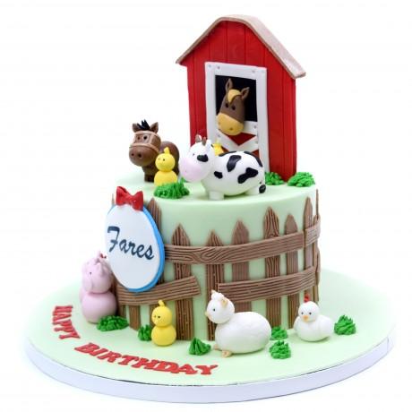 farm animals cake 14 6