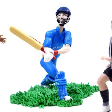 basketball, cricket and football sports theme cake. 7