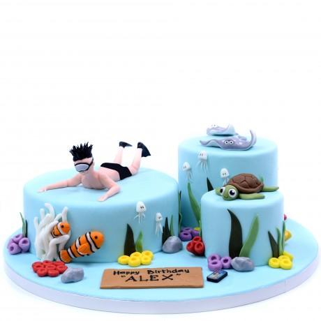 diving cake 3 6