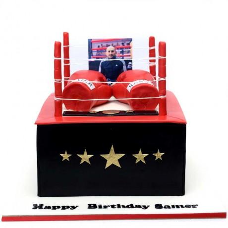 boxing gloves cake 6