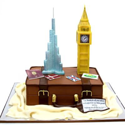 Big Ben and Burj Khalifa Cake 2