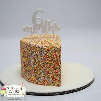 Half birthday cake for 6th month