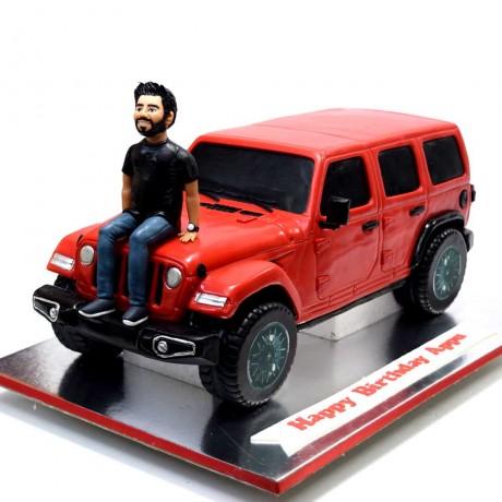 red wrangler jeep cake 9