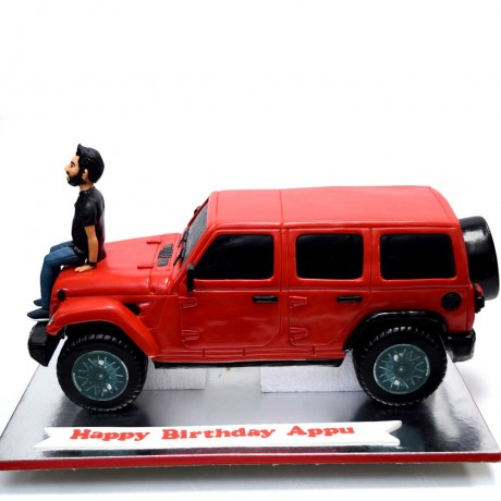 red wrangler jeep cake 8