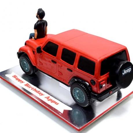 red wrangler jeep cake 7