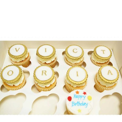 Letters name cupcakes