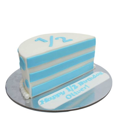 Half 6 months birthday cake for boy