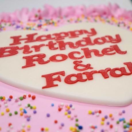 Simple pink cream cake