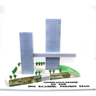Za'abeel Building Project cake