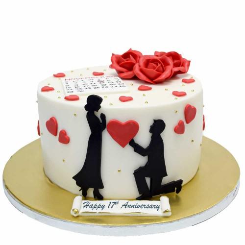 anniversary cake 8 7