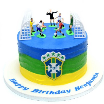 Brazil football theme cake 2