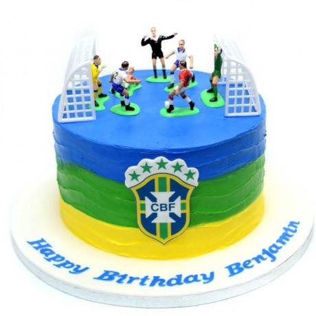 brazil football theme cake 2 6