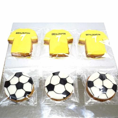 Football and shirt cookies 2