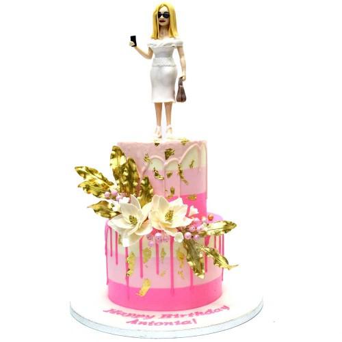 Elegant lady cake 2