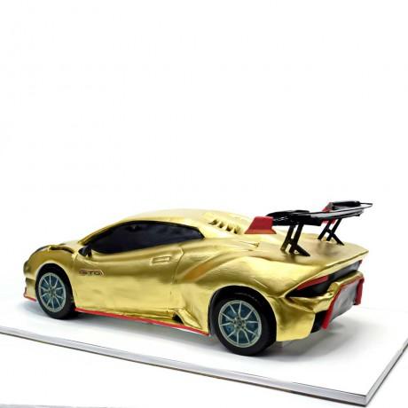 gold lamborghini car cake 7