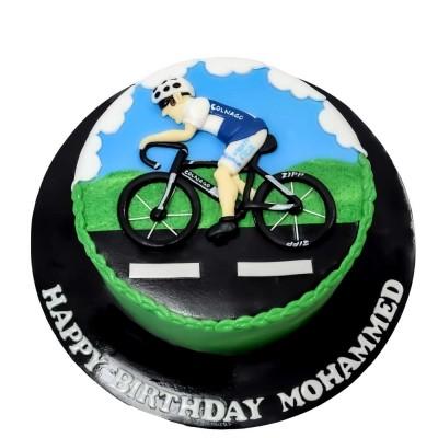 Cycling bicycle cake 3