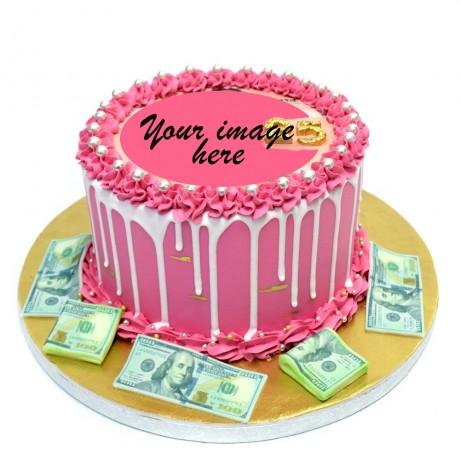 money cake with photo or logo 6