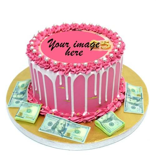 money cake with photo or logo 7