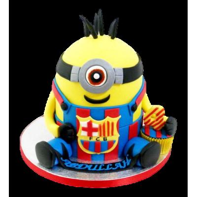Minion Barcelona Cake
