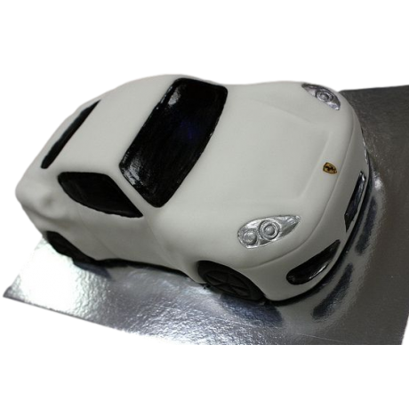 ferrari car cake - white 6