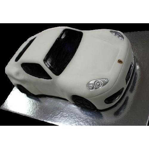 ferrari car cake - white 8