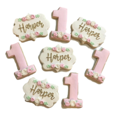first birthday cookies 6