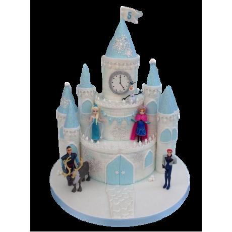 frozen castle olaf cake 6
