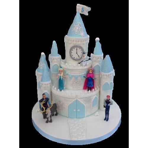 frozen castle olaf cake 7