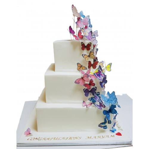 cake with butterflies 6 7