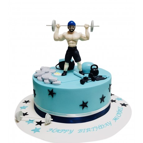 bodybuilding weights lifting cake 6