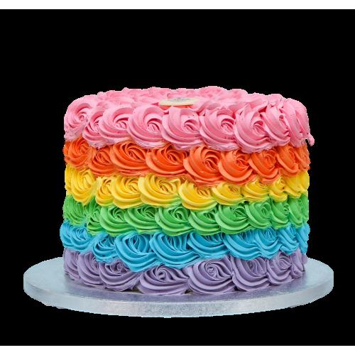 colorful swirls cake 7