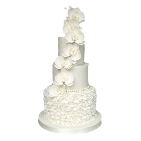 cake with ruffles and flowers 6