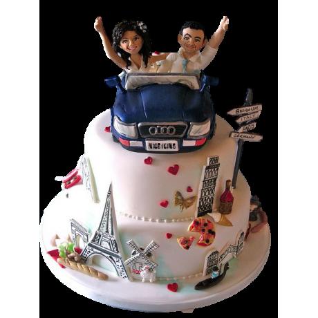 engagement car cake 6