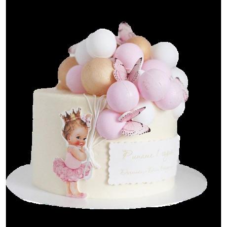 baby ballerina cake 6