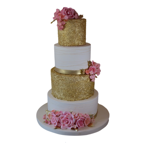 gold and pink cake 3 7