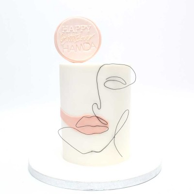Abstract lady face cake