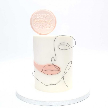abstract lady face cake 6