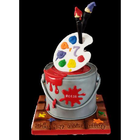 artist palette cake 2 6