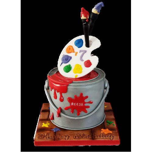 artist palette cake 2 7