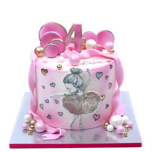 ballerina cake 9 7