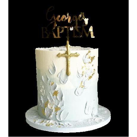 christening or baptism cake 8 6