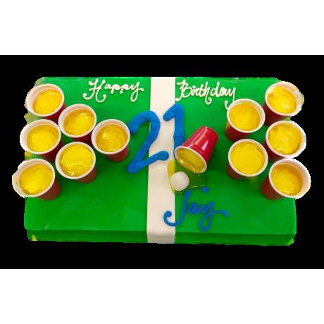 beer pong cake 6