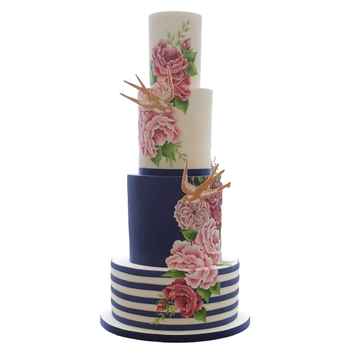 birds and flowers cake 7