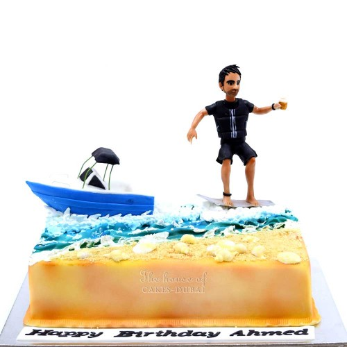 Boat and surf cake