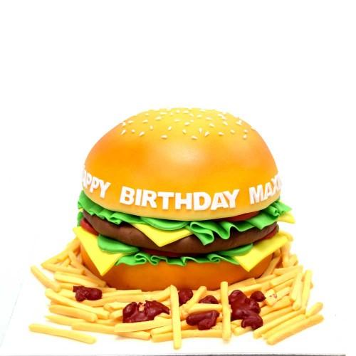 burger cake 7