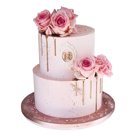 cake with pink roses 6