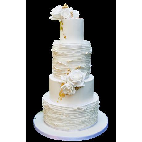 curly ruffles wedding cake 6