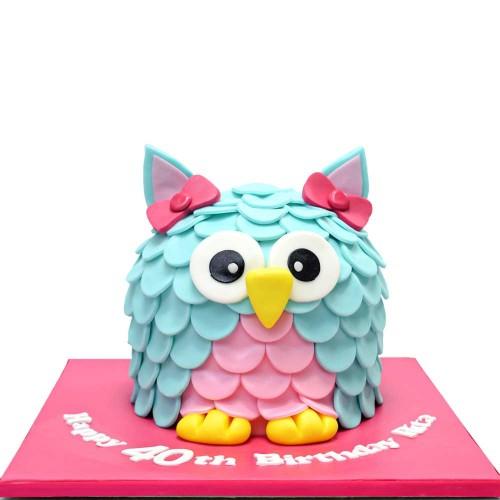 cute owl cake 7